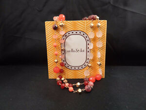 Stella & Dot 'Aileen' Necklace (Reds, Oranges, Corals) London Ontario image 4