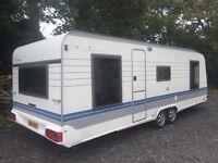 2000 year fixed bed 4 5 6 berth twin axle hobby caravan