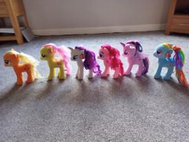 6 large my little pony soft toys