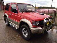 MITSUBISHI PAJERO SHOGUN 2800 GL SWB TURBO DIESEL AUTOMATIC MOT 1 YEAR 4x4 JEEP