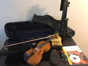 Heinel & Herold violin with hard-shell case and accessories