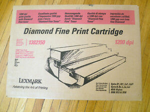 Lexmark 1382150 high yield toner cartridge, never opened+parts