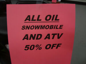 50% OFF ATV AND SNOWMOBILE OIL