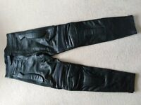 Leather Motorcycle Trousers,New..