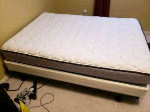Double mattress  with boxspring and bed frame - pillow top