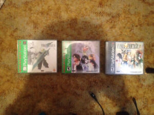 Final Fantasy VII, VIII & XI for PS1. RARE.PRICE REDUCED