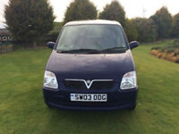 2003 03 Vauxhall Agila 1.0i 12v Expression Petrol 5 Door Blue MOT December 2018.