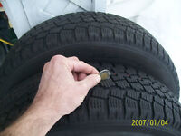 2 TOYO OBSERVE WINTER TIRES SIZE195/70/R14 REDUCED $80!!