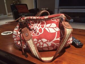 Fossil Canvas and Leather Bag for Sale
