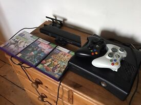 XBOX 360-S 250GB with Kinect & Rockband accessories