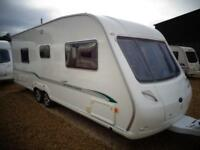 Bessacarr Cameo 625 GL 2007 Twin Axle Fixed Bed End Washroom Touring Caravan