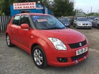 2009 BEAUTIFUL RED 1.5 SUZUKI SWIFT 5 DOOR 1 OWNER 2 KEYS SERVICE HISTORY