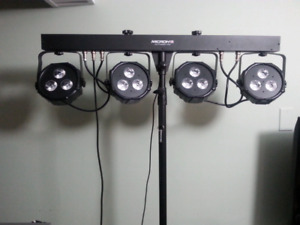 New DJ light with and tripod with controls and case