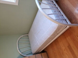 Metal Twin Bed with Mattress