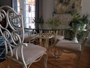 French Wrought Iron dining room table