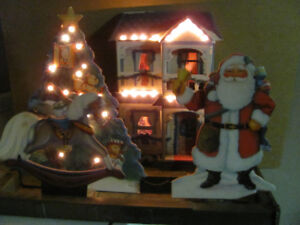 Vtg 1993 Lighted Indoor Christmas Focus Retail Motion DIsplay