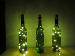 Beautiful bottles with lights, Perfect for Christmas