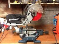 Einhell 1700w compound sliding mitre chop saw