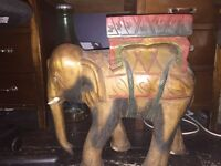 Large vintage handcrafted elephant table