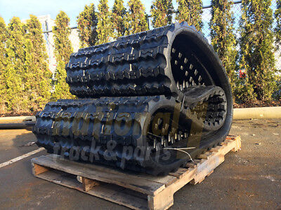 2 Snow Tracks Bobcat T250 T300 T320 Rubber Track 450x86zzx55 Case Tr320 450ct