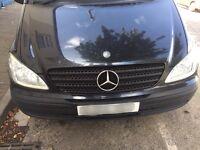 Mercedes Vito w639 front bumper headlights wings grille viano