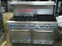 """POELE 60"""" , 6 RONDS AVEC GRILLE, 6 BURNER WITH GRILL STOVE OVEN"""