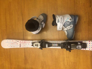 Girl's Solomon Skis, Bindings and Boots - Excellent Condition