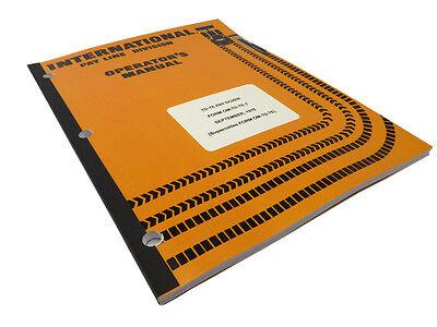 Ih International Harvester Td-7e Pay Dozer Crawler Operators Maintenance Manual