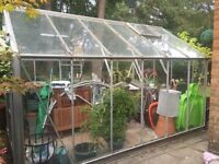 Full size greenhouse, all complete with glass and fittings