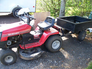 Ride ON mower with dump trailer
