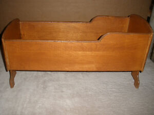 Vintage Handcrafted Doll Bed