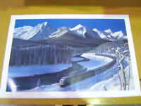 RARE- The Canadian at Morant's Curve Lithograph