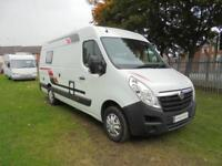 Vauxhall Movano two berth campervan for sale with end dinette
