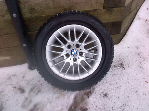 BMW rims with Blizzak WS70  215/60R16 tires Cambridge Kitchener Area image 1