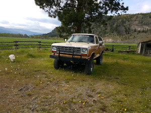 1985 Dodge Ramcharger + parts