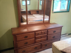 Palliser King Size bed and Dresser w mirror, Real wood Kingston Kingston Area image 2