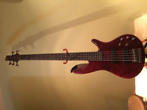 Ibanez SR905CNF 5 String Bass with hard shell case