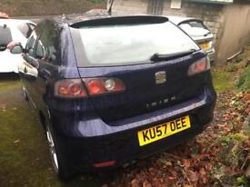 SEAT IBIZA 1.9TDI 100 2007MY Sport MET BLUE. 81 K. 1 previous owner.