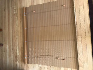 """Two, Wood look 2"""" plastic blinds 44"""" w X 39"""" high"""