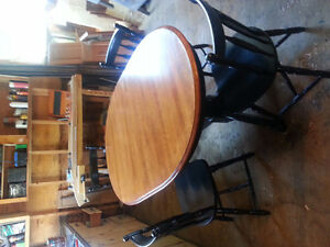 Birchwood table and Chairs