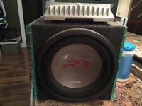 Custom Sub enclosure with AMP and Subwoofer