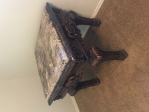 Set of marble top end tables $200