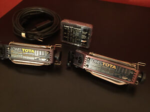 2x Lowel Tota lights, spare bulbs, and stands 500w/750w 3200K