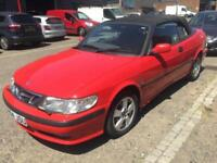 SAAB 9-3 2.0T SE CONVERTIBLE AUTO..MOT>OCT..STARTS & DRIVES..SELLING AS SCRAP