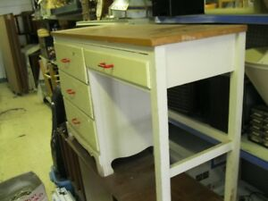Sturdy 3+1 drawer desk