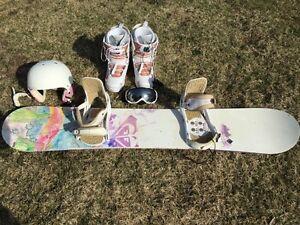 Snowboard Roxy et équipements négo