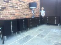 5 x DESIGNER BEDROOM CHEST OF DRAWERS / solid wood & chrome was £1800