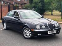2003 03, Jaguar S-TYPE 3.0 V6 auto SE Saloon ++ FULL LEATHER SEATS
