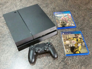 Playstation 4 •    500GB +   Controller and 2 Games