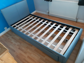 Single bed with under storage drawer